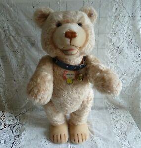 Steiff Teddy Baby 1949 stattliche 75 cm Teddybär Bär 408472 Holzwolle Halsband