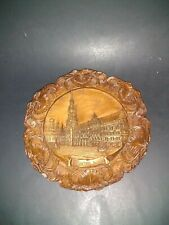 Vintage Munchen Rothaus Carved Plaque Plate with Hanger