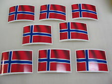 8 NORWAY FLAG Sticker Decal LOT 4 boat car Window Truck suv Wholesale NORWEGIAN