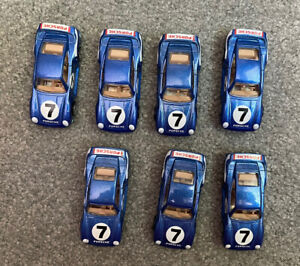 Lot of Seven 1987 Hot Wheels Blue Porsche - Used. Good Condition