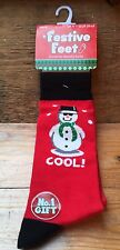Men's Novelty Christmas Socks/New & Tags/Cool Snowman Theme/Ideal Gift/Size 6-11