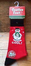 Para Hombre Calcetines Novedad De Navidad/Nuevo Y Etiquetas/fría Muñeco de Nieve Tema/Regalo Ideal/Talla 6-11