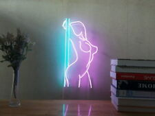New Sexy Girl Stripper Pole Dance Neon Sign For Bedroom Home Decor  With Dimmer