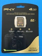 PNY 4GB High Speed High Capacity Flash Memory Card ~ NEW