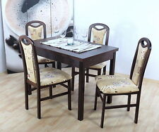 Essgruppe 5-tlg. Stühle Stuhl Tisch Esszimmer Gruppe Esstisch Sitzgruppe