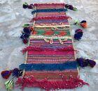 Hand Woven Made Afghan Khurjeen Saddle Bag Wall Hanging Area Rug 2.8 x 1.0 Ft