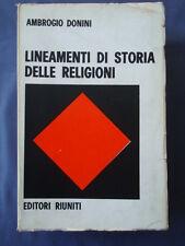 DONINI-LINEAMENTI DI STORIA DELLE RELIGIONI-EDITORI RIUNITI 1969