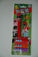 Power Rangers red   Pez Dispenser  with candy new sealed mighty morphin