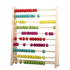 Wooden Kids Toy Bead Abacus Counting Number Frame Educational Maths UK STOCK