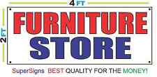 2x4 FURNITURE STORE Banner Sign Red White & Blue NEW Discount Size & Price