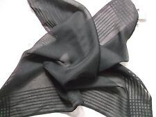 Handkerchief MENS Top Pocket Hankie 1990s SHEER BLACK BY TIE RACK NEW