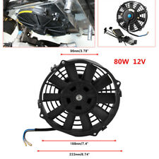 80W Electric Radiator Slim Cooling Fan Kit 7 Inch 12V for Universal Car 800 CFM