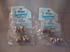SILVER JINGLE BELLS for CRAFTS 20mm - 4 PACKAGES