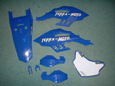 Genuine Terra Moto Pit Bike Fenders, Plastics, Panels - Blue