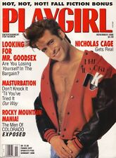 PLAYGIRL Nov 1990 NICOLAS CAGE Marcel Gabriel RUDOLPH VALENTINO Men of COLORADO