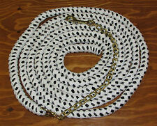New 16 ft. Cotton Lunge Rope w/ Brass-tone Chain Shank Multi-Colored Longe-Line
