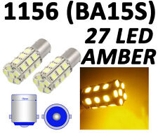 1156 BA15S 27 SMD 5050 LED Yellow Amber RV Tail Turn Signal Car Light Bulb Lamp