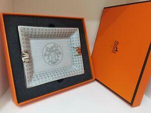 Hermes Mosaique Au 24 Wechsel Ablage Platinum Silber Aschenbecher Porzellan  neu