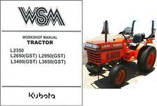 Kubota L2350 L2650 L2950 L3450 L3650 Gst Tractor Wsm Service Workshop Manual Cd