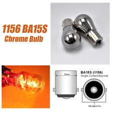 2pcs S25 1156 BA15S 7506 3497 Rear Turn Signal Lights Amber Chrome Bulb A1 X