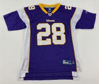 Adrian Peterson #28 Minnesota Vikings Reebok On Field Jersey Youth Large 14-16