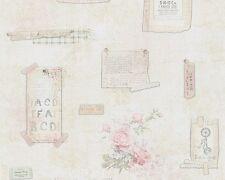 Tapete Landhaus creme rosa livingwalls Djooz 95668-1 956681 (1,81€/1qm)