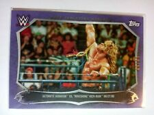 WWE Ultimate Warrior CEM-1 2015 Topps Undisputed Purple Parallel Card 50 of 50