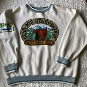 Vintage 80s Adidas Bear mountain Patrol Crewneck Sweatshirt XL Guide