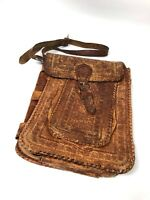 Hand Tooled Mexican Persian Native American Leather Messenger Bag Satchel Purse