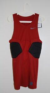 Nike Pro Combat Men's Tall Rust Red SLVLS Padded Compression Basketball Shirt LT