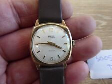 SUPERB 9 CARAT GOLD AVIA 17 JEWELS WRISTWATCH - WORKING