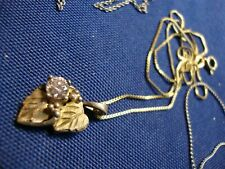 Gold Sterling Silver Necklace Grandmas Estate Black Hills 12K