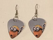 Cartoon (D) Guitar Pick Minion Earrings Surgical Hook New