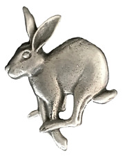 Mad March Hare Brooch Handcrafted From English Pewter (Br0746)