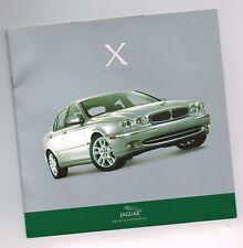 2001?2002 Jaguar X-Type Intro (7 IDIOMAS) FOLLETO CON TABLA DE COLORES