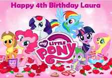 Personalised A4 My Little Pony Edible Wafer Paper Cake Topper