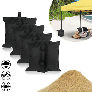 4x Pavillon Sandsäcke Pavillion Standfuß Gewichte Sandsack Für Zelt Schwarz Top