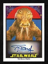 2017 Topps Star Wars 1978 Sugar Free Autograph Tim Dry as J'Quille #53/99