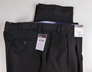 Roundtree & Yorke Travel Smart Ultimate Comfort Stretch Black Dress Pants NWT 79