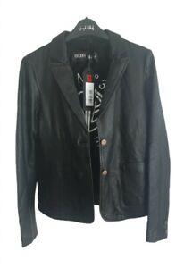 FREAKY NATION Damen Leder Jacke Black Größe S