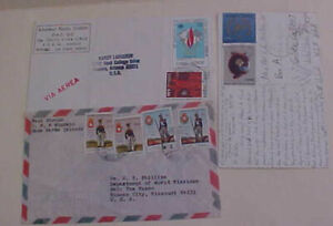 PORTUGAL  CABO VERDE 3 SMALL COVERS TO USA