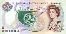 Isle of Man P-42 10 pounds (1991) AU low serial number