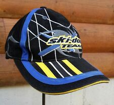 Ski-doo Team Strapback Black Bombardier Snowmobile Snow Machine Cap Adjustable