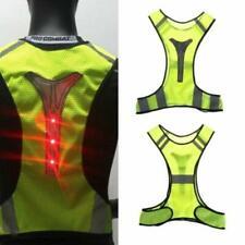 Unisex Men Women LED Reflective Night Running Cycling Safety Vest Jacket Sports