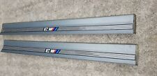 BMW E36 M3 COUPE PAIR DOOR SILL SILBERGRAU COVERING KICK PLATES 2