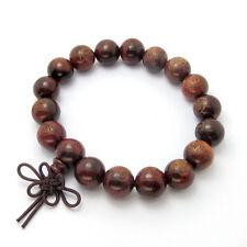 Red Wood Buddha Word Tibet Buddhist Prayer Beads Mala Bracelet--12mm