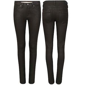 Women Sexy Casual Denim Pants Skinny Strech High Waist Jeans  wet look Trouser
