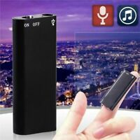 150hr Mini 8GB USB Digital Hidden Audio Sound Voice Recorder w/ Earphone 2019