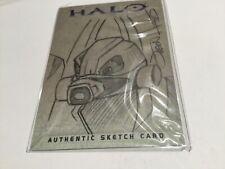 Halo XBOX Trading Card 2007 Topps Jason Hughes Rare Artist Sketch 1/1 Grunt