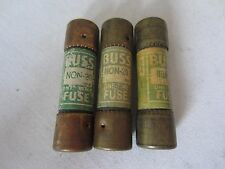 Lot of 3 Bussmann Non-20 Fuses 20 Amps Tested